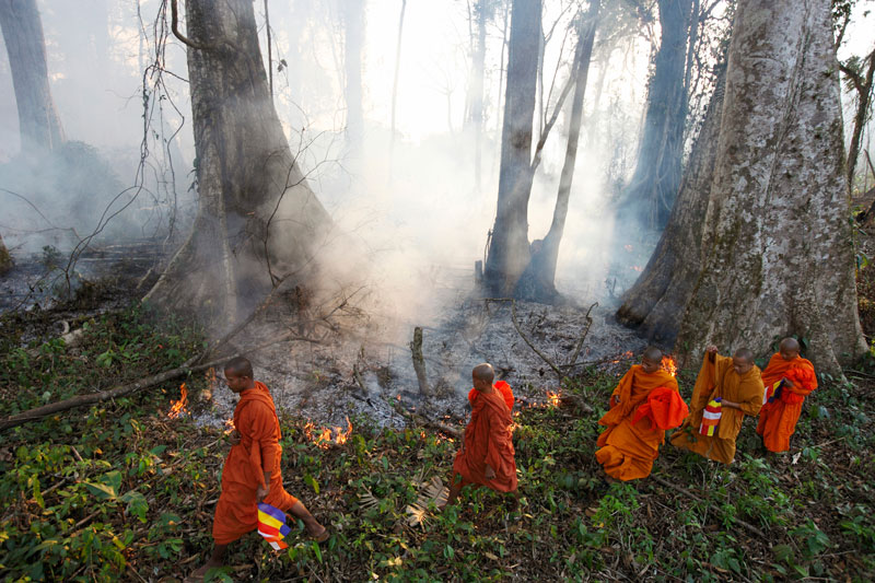 A photograph from 'Here Come the Monks,' a series by British photographer Luke Duggleby. (Luke Duggleby/Redux)