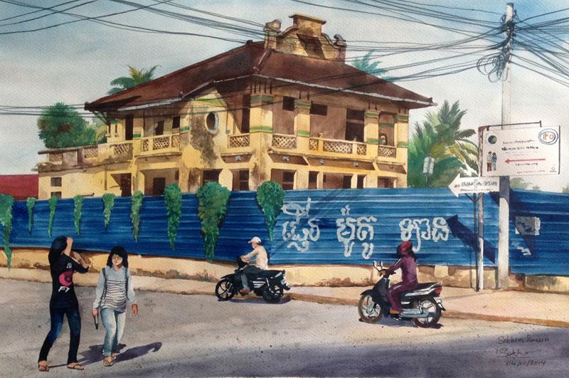 'Street 5, in Front of Monivong High School,' by Roeun Sokhom (Roeun Sokhom)