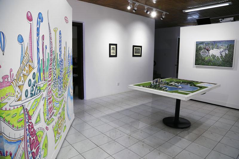 The 'Open City, Open Mind' exhibit at The Asia Foundation (Aria Danaparamita/The Cambodia Daily)