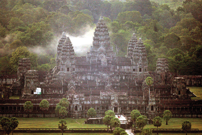 A view of Angkor Wat in 2005 (Reuters)