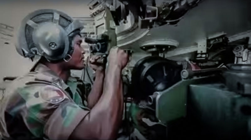 A still image from a promotional video produced by the Ministry of Defense to bolster the ranks of its army officer corps