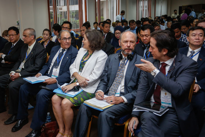 Foreign diplomats attend a July workshop on the NGO law at the National Assembly in Phnom Penh. (Siv Channa/The Cambodia Daily)
