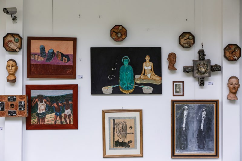 Works displayed as part of the 'The Klondike Collection' (Siv Channa/The Cambodia Daily)