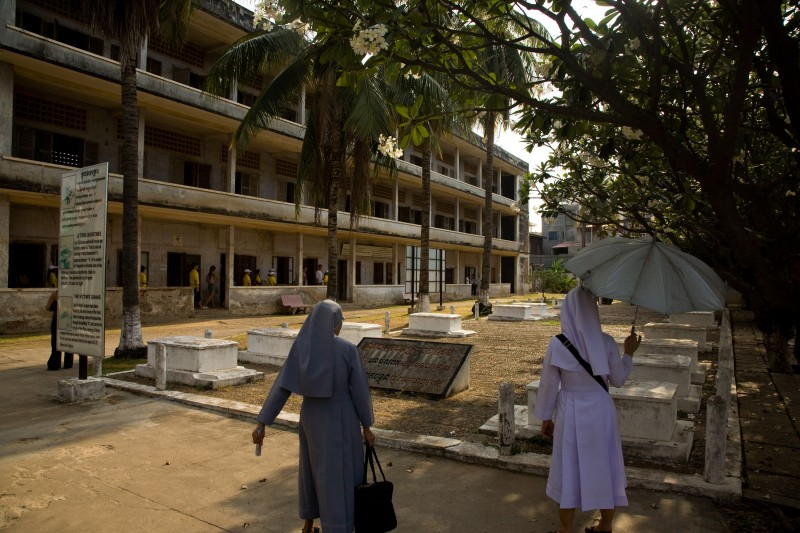 Tuol Sleng Genocide Museum, site of the former S-21 interrogation center, is seen in 2009 (Nicolas Axelrod)