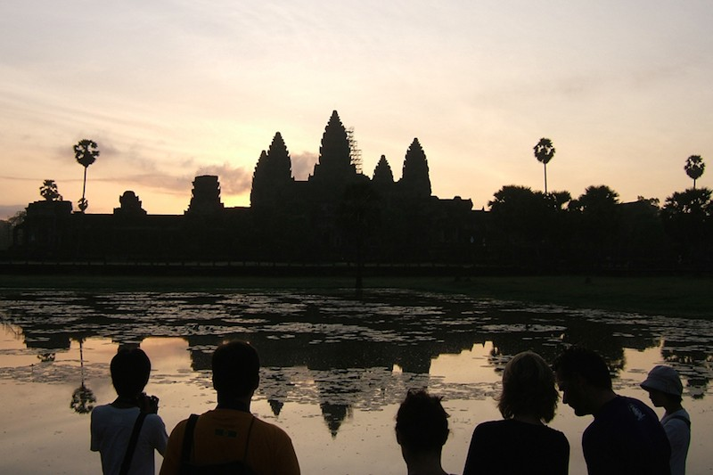 Tourists gather at Angkor Wat before sunrise in Siem Reap province. (Creative Commons)