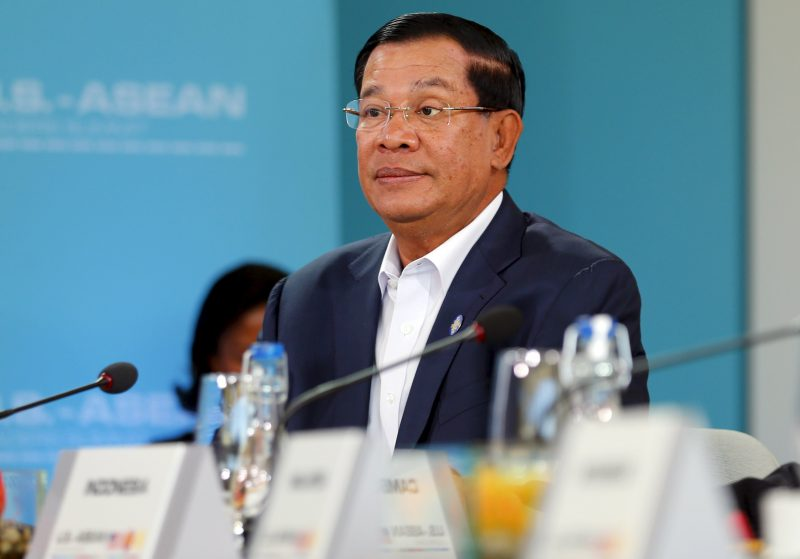 Prime Minister Hun Sen listens during an Asean summit this year. (Reuters)