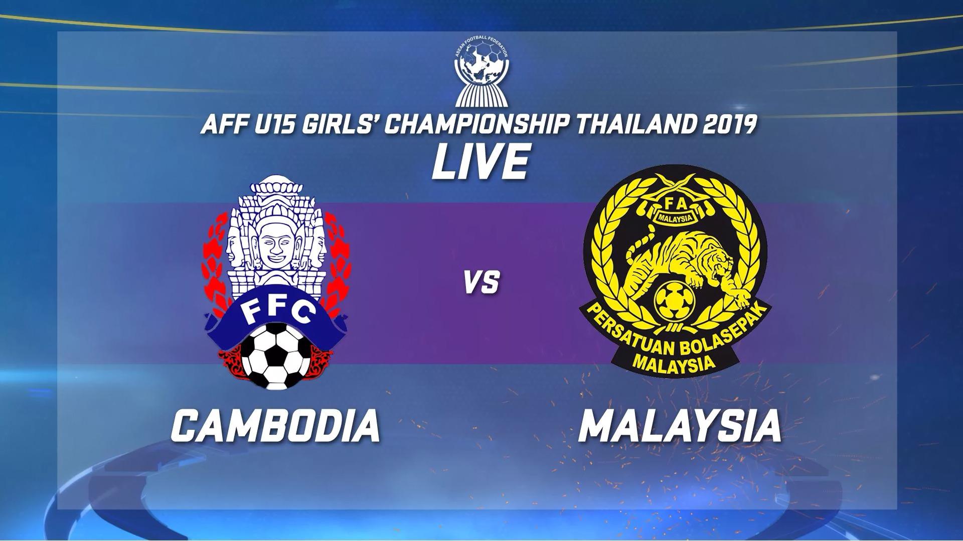 Aff U 15 Girls Championship 2019 Cambodia Vs Malaysia The Cambodia Daily